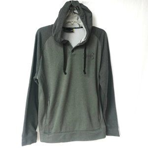 UA Under Armour Green Gray Hoodie Button Pullover